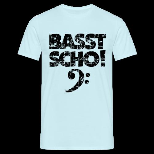 Basst Scho Vintage (Schwarz) Bass T-Shirt - Männer T-Shirt