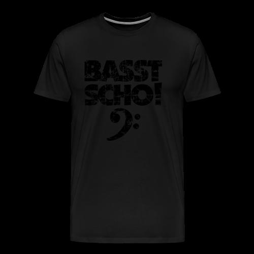 Basst Scho Vintage (Schwarz) Bass S-5XL T-Shirt - Männer Premium T-Shirt