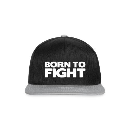 Born to fight (white text), snapbackkeps - herr/dam - Snapbackkeps