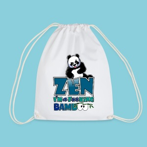 Drawstring Bag Bad panda, be zen or not - Drawstring Bag