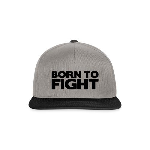 Born to fight (black text), snapbackkeps - herr/dam - Snapbackkeps