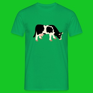 Koe graast heren t-shirt - Mannen T-shirt