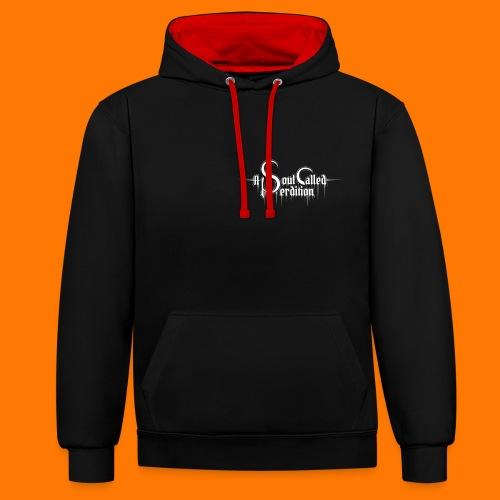 In Silence... contrast hoodie - Contrast Colour Hoodie