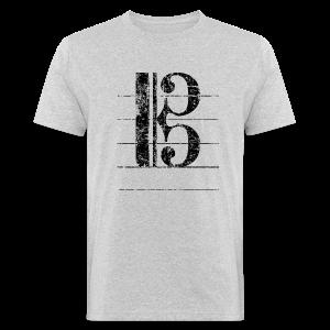 Tenorschlüssel (Vintage/Schwarz) Bio T-Shirt - Männer Bio-T-Shirt