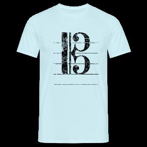 Tenorschlüssel (Vintage/Schwarz) T-Shirt - Männer T-Shirt