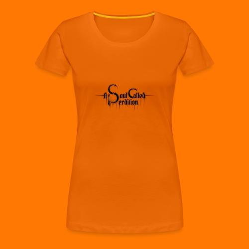 Girlie w/ logo, orange - Women's Premium T-Shirt