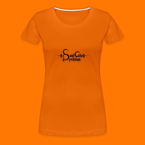 Girlie w/ logo, orange - Women's Premium T-Shirt
