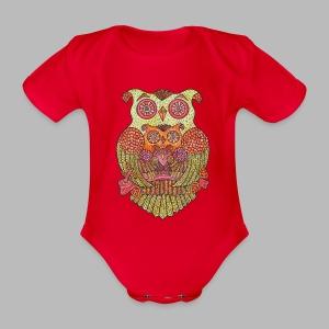 OWL FAMILY ----------- (3mths-18mths) - Organic Short-sleeved Baby Bodysuit