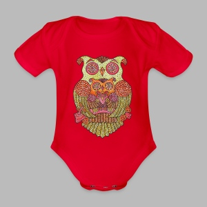 OWL FAMILY ----------- (3mths-18mths) - Organic Short-sleeved Baby Bodysuit