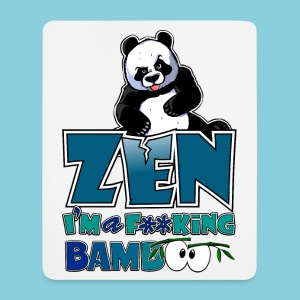 Mouse Pad Bad panda, be zen or not - Mouse Pad (vertical)