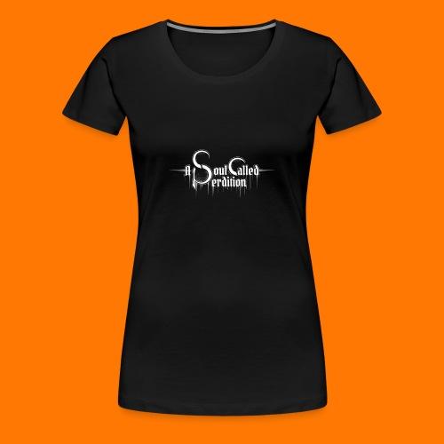 Girlie w/ logo, black - Women's Premium T-Shirt