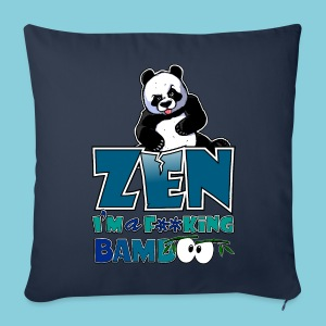 Sofa pillow cover Bad panda, be zen or not - Sofa pillow cover 44 x 44 cm