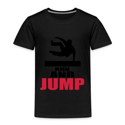 Run and jump Parkour, T-shirt - barn - Premium-T-shirt barn