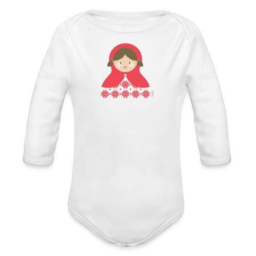 body russian doll - Body bébé bio manches longues