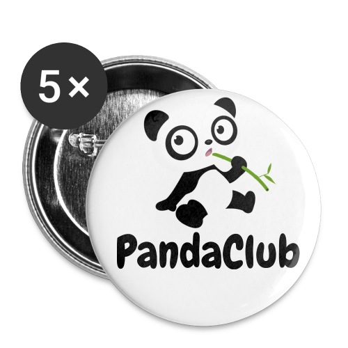 PandaClub Button! - Buttons middel 32 mm (5-pack)