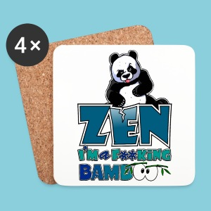 Coasters Bad panda, be zen or not - Coasters (set of 4)