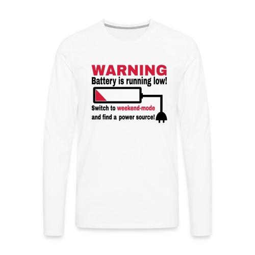 Wochenende Spruch Shirt - Männer Premium Langarmshirt