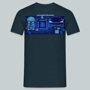 CyberCar Driver and Car pure integration - Men's T-Shirt
