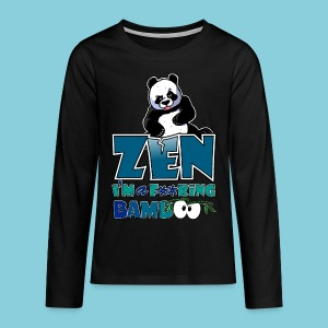 Teenage T-Shirt Bad panda, be zen or not - Teenagers' Premium Longsleeve Shirt