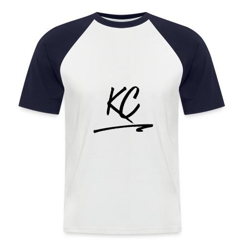 T-shirt Bleu et blanc KC - T-shirt baseball manches courtes Homme
