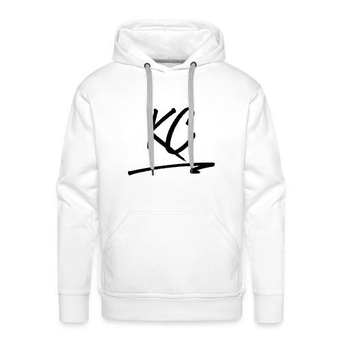 Pull Blanc KC - Sweat-shirt à capuche Premium pour hommes