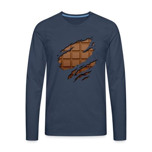 Langarmshirt Schokoladen Körper - Männer Premium Langarmshirt