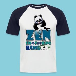 Men's T-Shirt Bad panda, be zen or not - Men's Baseball T-Shirt