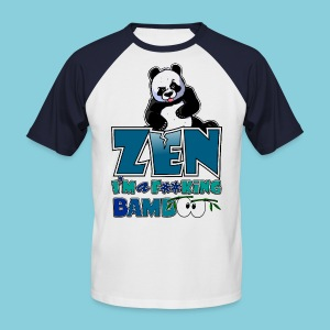 Men's T-Shirt Bad panda, be zen or not - Men's Baseball T-Shirt