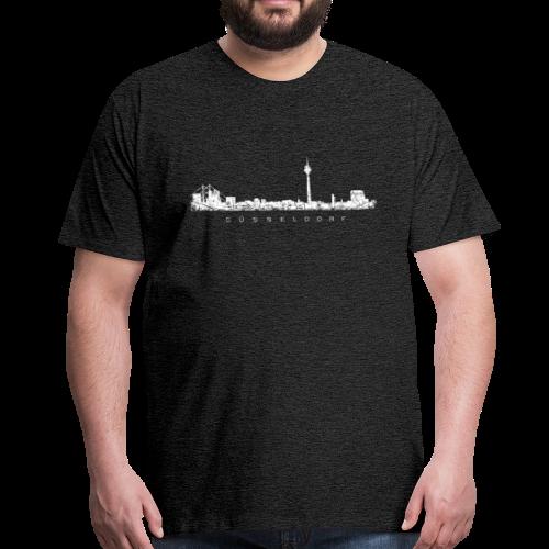 Düsseldorf Skyline (Vintage/Weiß) S-5XL T-Shirt - Männer Premium T-Shirt
