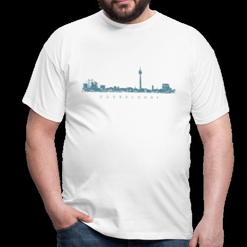 Düsseldorf Skyline (Vintage/Blau) T-Shirt - Männer T-Shirt