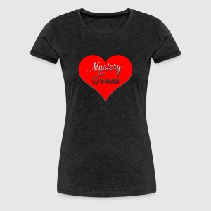Mystery Woman rotes Herz - Frauen Premium T-Shirt