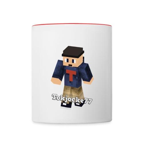 Tokjocke77 Minecraft | Mugg - Tvåfärgad mugg