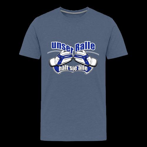Teenager Premium T-Shirt Ralle hält sie alle - blau meliert - Teenager Premium T-Shirt