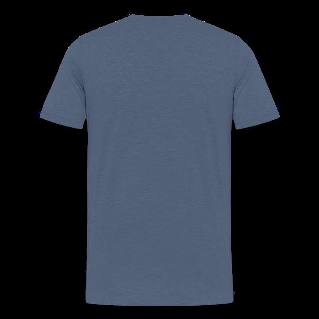 "Teenager Premium T-Shirt ""Ralle hält sie alle"" - blau meliert"
