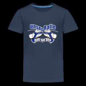 Teenager Premium T-Shirt Ralle hält sie alle - navi - Teenager Premium T-Shirt