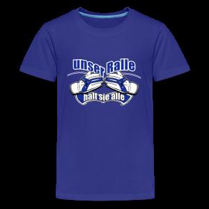 Teenager Premium T-Shirt Ralle hält sie alle - königsblau - Teenager Premium T-Shirt
