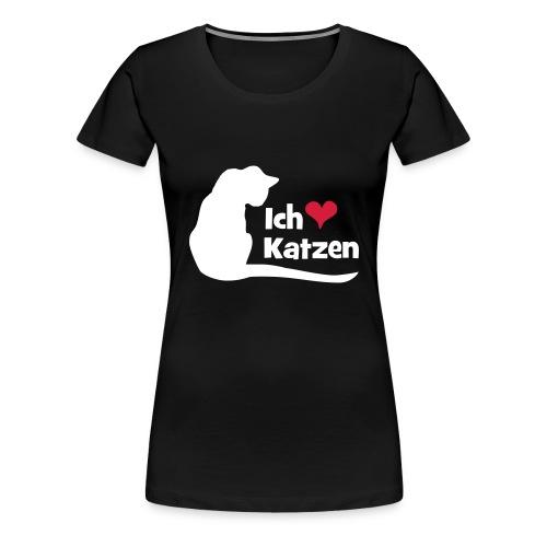 Ich liebe Katzen - Frauen Premium T-Shirt