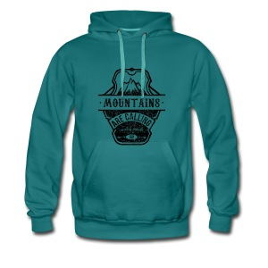 mountains are calling - schwarz Pullover & Hoodies - Männer Premium Hoodie
