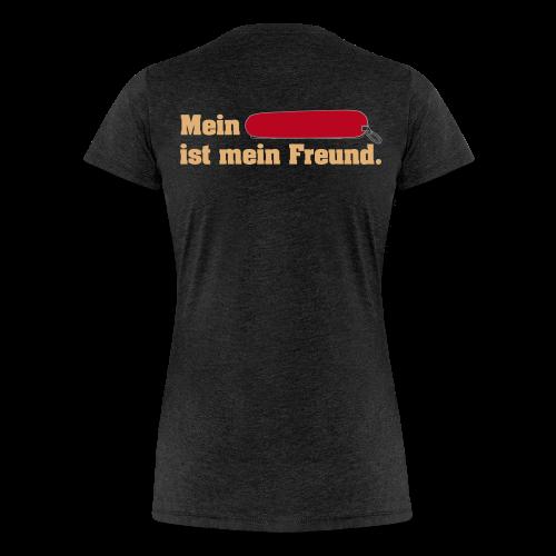 Taschenmesser Freund Hinten für Frauen  - Frauen Premium T-Shirt
