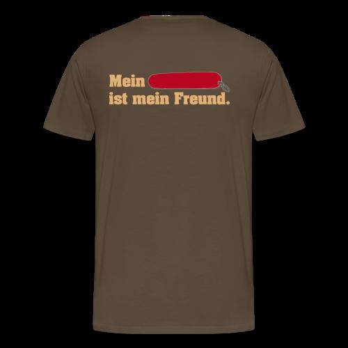 Taschenmesser Freund Hinten für Männer - Männer Premium T-Shirt