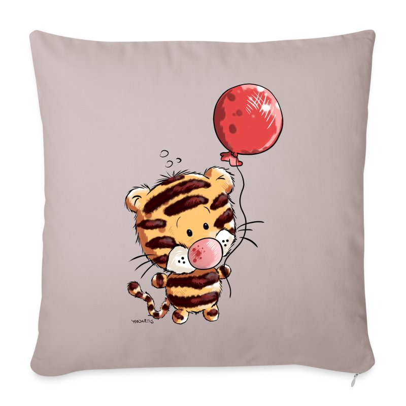 Copricuscino per divano con tigre con palloncino spreadshirt for Copricuscino divano