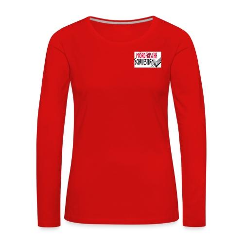 Langarmshirt Damen rot - Frauen Premium Langarmshirt