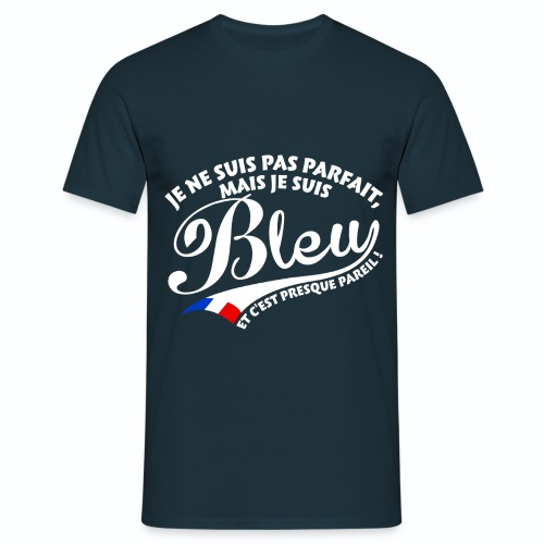 T shirt bleu blanc rouge Je suis un bleu HBM - T-shirt Homme