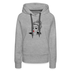 Kissing vintage girl retro look - Women's Premium Hoodie