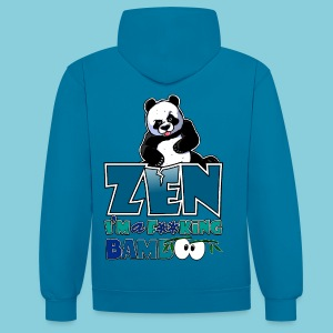 Contrast Colour Hoodie Bad panda, be zen or not - Contrast Colour Hoodie