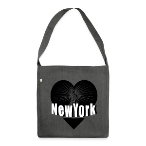 New York in Love - Schultertasche aus Recycling-Material