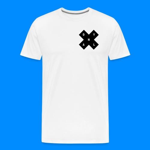 Official Dylan Gilbert X Shape White Mens T-Shirt - Men's Premium T-Shirt