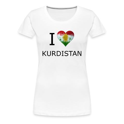 I Love Kurdistan T-Shirt Frauen - Frauen Premium T-Shirt