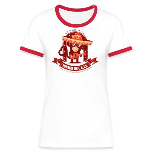Mensuel Cute Luxe (F) - T-shirt contrasté Femme