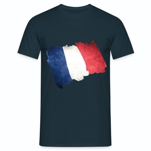 T shirt bleu blanc rouge Drapeau Français en dessin HBM - T-shirt Homme